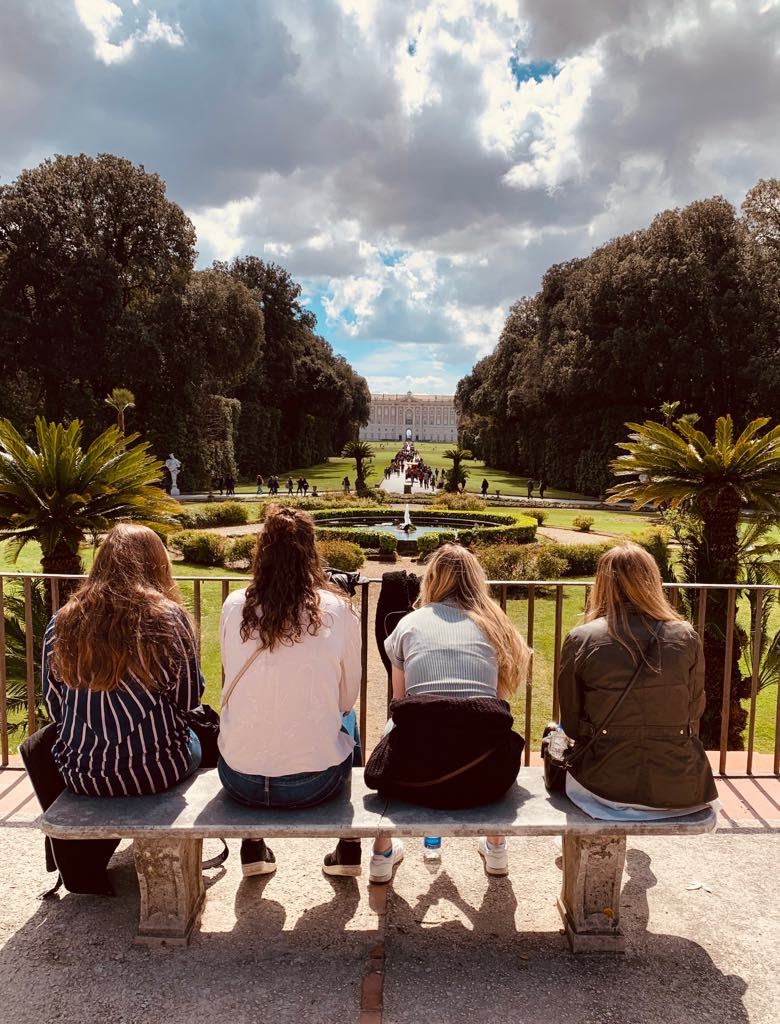 Students at the Reggia di Caserta